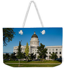 Garden In Front Of Utah State Capitol Weekender Tote Bag by Panoramic Images