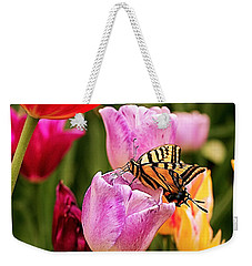 Garden Party Weekender Tote Bag by Rona Black