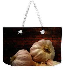 Garlic Weekender Tote Bag by Lourry Legarde