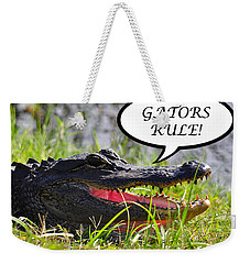 Gators Rule Greeting Card Weekender Tote Bag by Al Powell Photography USA