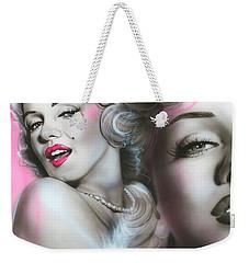 Marilyn Monroe - ' Gentlemen Prefer Blondes ' Weekender Tote Bag by Christian Chapman Art