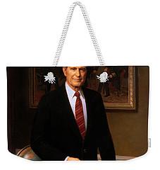George Hw Bush Presidential Portrait Weekender Tote Bag by War Is Hell Store