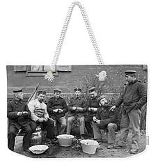 Germans Peeling Potatoes Weekender Tote Bag by Underwood Archives
