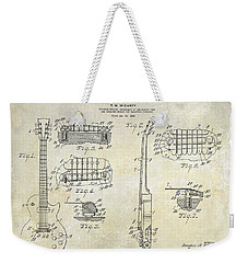 Gibson Les Paul Patent Drawing Weekender Tote Bag by Jon Neidert