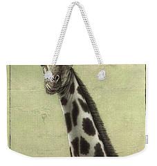 Giraffe Weekender Tote Bag by James W Johnson