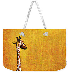 Giraffe Looking Back Weekender Tote Bag by Jerome Stumphauzer