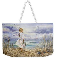 Girl At The Ocean Weekender Tote Bag by Irina Sztukowski