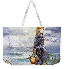 Girl And The Ocean Weekender Tote Bag by Irina Sztukowski