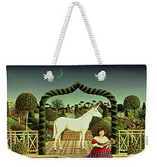 Girl With A Unicorn Weekender Tote Bag by Anthony Southcombe