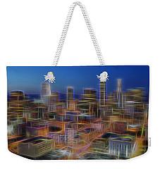 Glowing City Weekender Tote Bag by Kelley King
