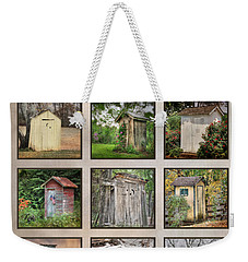 Go In Style - Outhouses Weekender Tote Bag by Lori Deiter