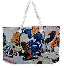 Goaltender Weekender Tote Bag by Derrick Higgins