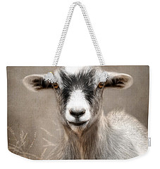 Goat Portrait Weekender Tote Bag by Lori Deiter