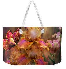 Goddess Of Sunrise Weekender Tote Bag by Carol Cavalaris