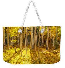 Golden Weekender Tote Bag by Darren  White