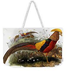 Golden Pheasants Weekender Tote Bag by Joseph Wolf