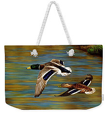 Golden Pond Weekender Tote Bag by Crista Forest