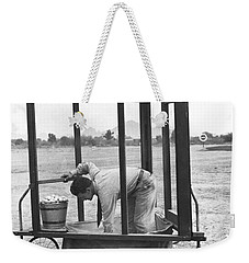 Golf Driving Range Safety Cart Weekender Tote Bag by Underwood Archives