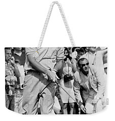 Golfer Arnold Palmer Weekender Tote Bag by Underwood Archives