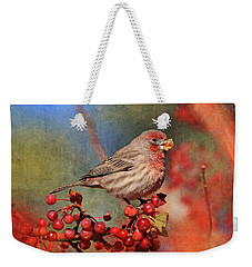 Good Grief   These Berries Sure Are Messy  Weekender Tote Bag by Donna Kennedy