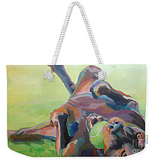 Goofball Weekender Tote Bag by Kimberly Santini