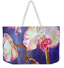 Gorgeous Orchid Weekender Tote Bag by Irina Sztukowski