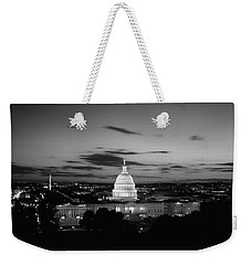 Government Building Lit Up At Night, Us Weekender Tote Bag by Panoramic Images