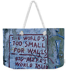 Graffiti On A Wall, Berlin Wall Weekender Tote Bag by Panoramic Images