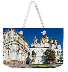 Grand Kremlin Palace With Cathedrals Weekender Tote Bag by Panoramic Images