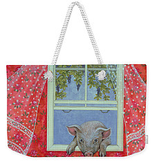 Grapes At The Window Weekender Tote Bag by Ditz