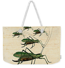 Grasshopper Parade Weekender Tote Bag by Antique Images