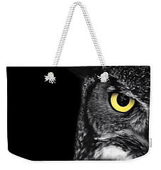 Great Horned Owl Photo Weekender Tote Bag by Stephanie McDowell