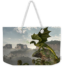 Green Dragon Weekender Tote Bag by Daniel Eskridge
