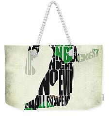 Green Lantern Weekender Tote Bag by Ayse Deniz