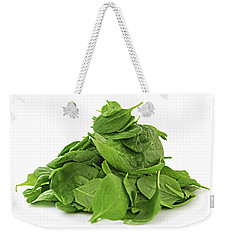 Green Spinach Weekender Tote Bag by Elena Elisseeva