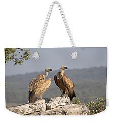 Griffon Vulture Pair Extremadura Spain Weekender Tote Bag by Gerard de Hoog