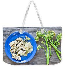 Grilled Artichoke And Brocolli Weekender Tote Bag by Tom Gowanlock
