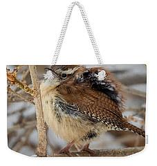 Grumpy Bird Weekender Tote Bag by Bill Wakeley