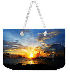 Guitar Sunset - Guitars By Sharon Cummings Weekender Tote Bag by Sharon Cummings