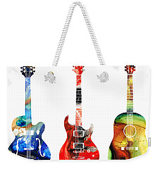 Guitar Threesome - Colorful Guitars By Sharon Cummings Weekender Tote Bag by Sharon Cummings
