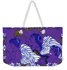 Hark The Herald Angels Sing Weekender Tote Bag by Kimberly McSparran