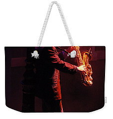 Sax In The City 1 Weekender Tote Bag by Bob Christopher