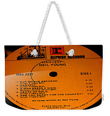 Harvest - Neil Young Side 1 Weekender Tote Bag by Marcello Cicchini