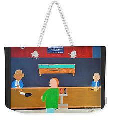 He Did It Weekender Tote Bag by Dennis ONeil