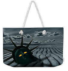 Head Of A Statue With A Broken Bridge Weekender Tote Bag by Panoramic Images