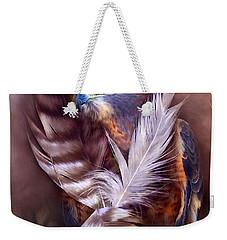Heart Of A Hawk Weekender Tote Bag by Carol Cavalaris