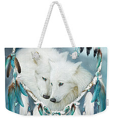 Heart Of A Wolf Weekender Tote Bag by Carol Cavalaris