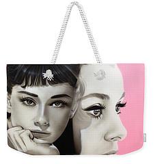 Audrey Hepburn - ' Hepburn ' Weekender Tote Bag by Christian Chapman Art