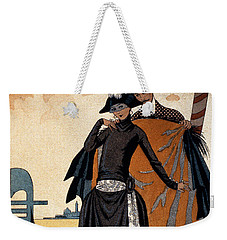 Her And Him Fashion Illustration Weekender Tote Bag by Georges Barbier