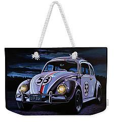 Herbie The Love Bug Painting Weekender Tote Bag by Paul Meijering